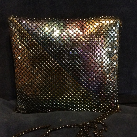 Vintage Handbags - Vintage Liquid Mesh Cross Body Bag